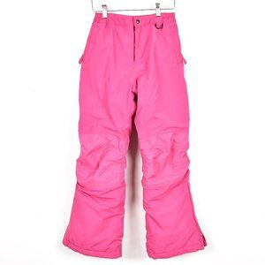 Land's End Pink Winter Ski Squall Snowpants Waterproof, Insulated Sz 12